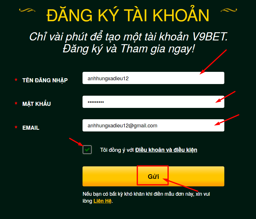 Cách đăng ký V9bet nhận khuyến mãi tiền cược miễn phí 100k