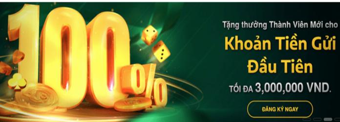 Khuyến mãi V9bet - Thưởng chào mừng 100% lên đến 3.000.000 VND