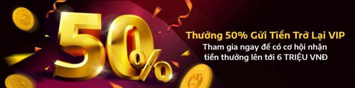 V9bet Thưởng trở lại VIP 50% Cực Đã!!