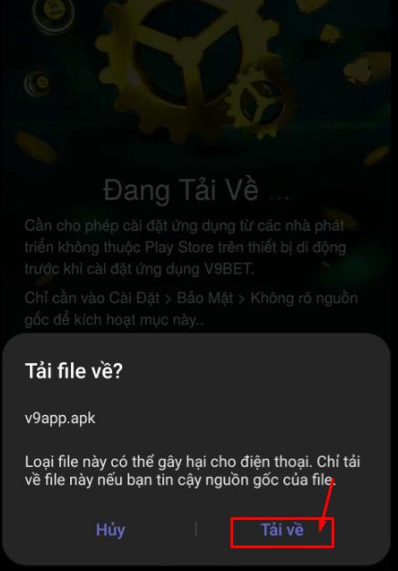 Cách Tải App V9bet mobile - Gửi tiền nhận thêm 2% tiền thưởng