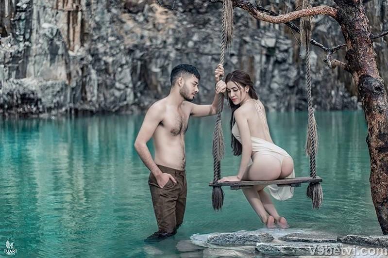Bộ ảnh Tuyệt Tình Cốc Đà Lạt á hậu Thư Dung không che 100%