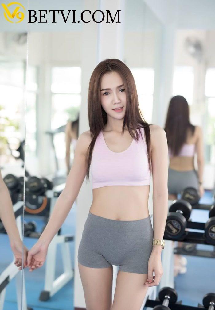 gái xinh tập gym